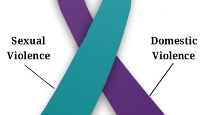 Domestic violence and Sexual violence purple and teal ribbon